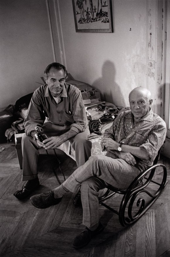 David Douglas Duncan with Pablo Picasso