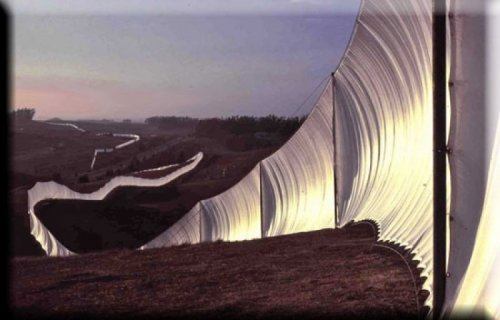Christo and Jeanne-Claude Running Fence