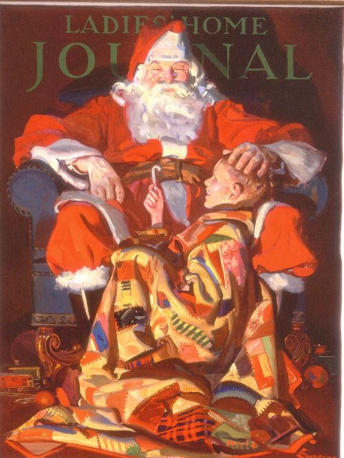 Santa on the Cover of Ladies' Home Journal