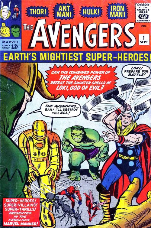 Avengers #1, cover art by Jack Kirby