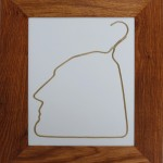Ai WeiWei, Porcelain in huang huali wood frame, edition of 20 in gold, 2011