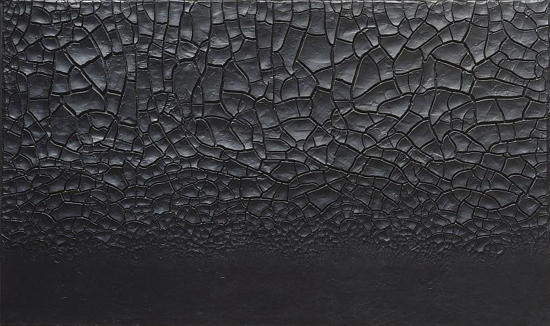 Alberto Burri, Grande cretto nero (Large Black Cretto), 1977