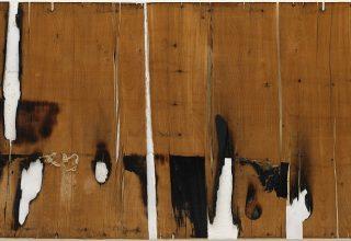 Alberto Burri, Legno e bianco I (Wood and White I), 1956