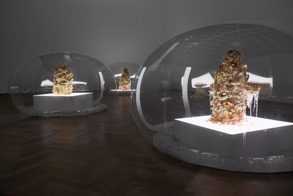 Anicka Yi Installation view 7,070,430K of Digital Spit, Kunsthalle Basel, Basel, 2015