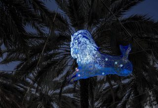 Blue Night site-specific installation by Kiki Smith