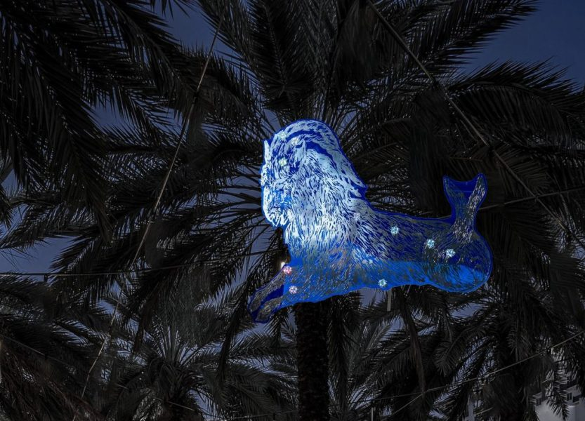 Blue Night site-specific installation by Kiki Smith