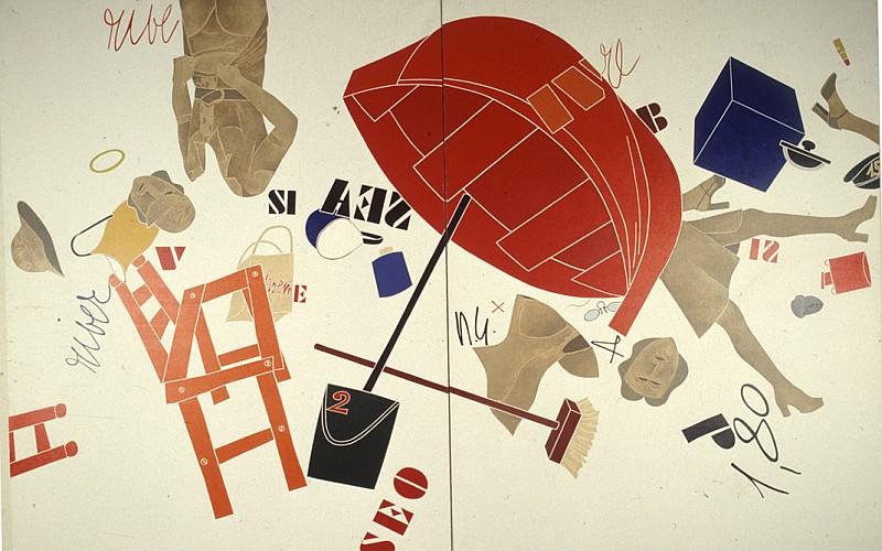 Emilio TadiniI, Museo dell'uomo_donne che corrono in riva al mare, 1974