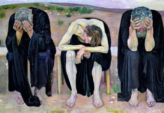 Ferdinand Hodler The Disappointed Souls (Les Âmes déçues), 1892