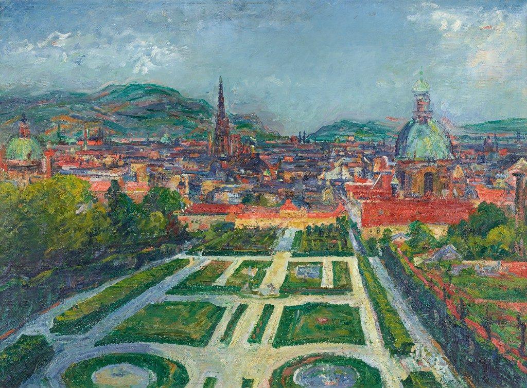 Gerhart Frankl, Blick vom Belvedere auf Wien (Landschaft I)