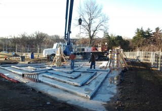 Glass-Walled Labyrinth to be Installed in the Donald J. Hall Sculpture Park 2014-03-12 08.28.11 Kalie Hudson