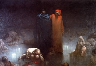 Gustave Doré, Dante and Virgil in the Ninth Circle of Hell, 1861