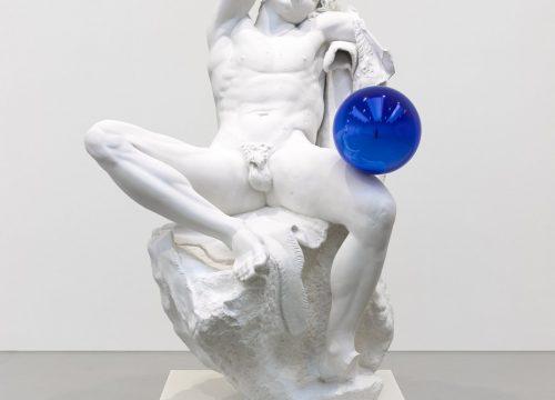 Jeff Koons Gazing Ball Barberini Faun Florence Palazzo Vecchio