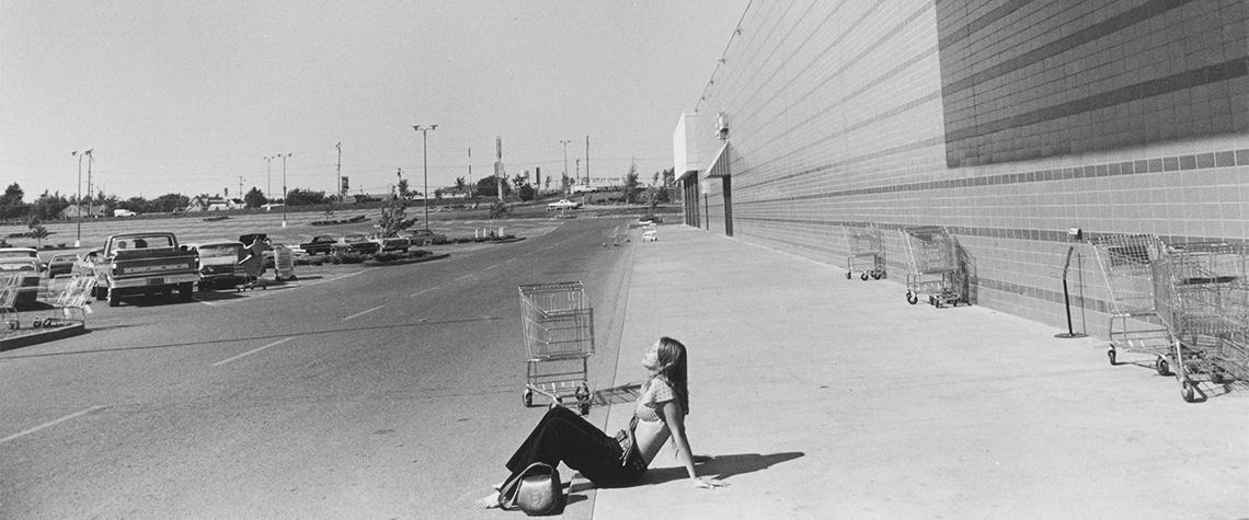 Paul McDonough, Woman Sunbathing, Portland, Oregon, 1973,  photograph, Courtesy of Sasha Wolf Gallery