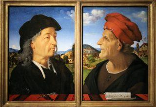 Piero di_Cosimo ritratto di Giuliano da Sangallo e di Francesco Giamberti 1495 circa Amsterdam Rijksmuseum
