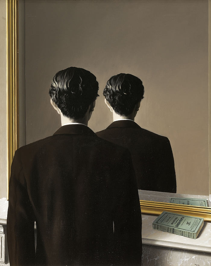 René Magritte, Not to be Reproduced (La Reproduction interdite), 1937