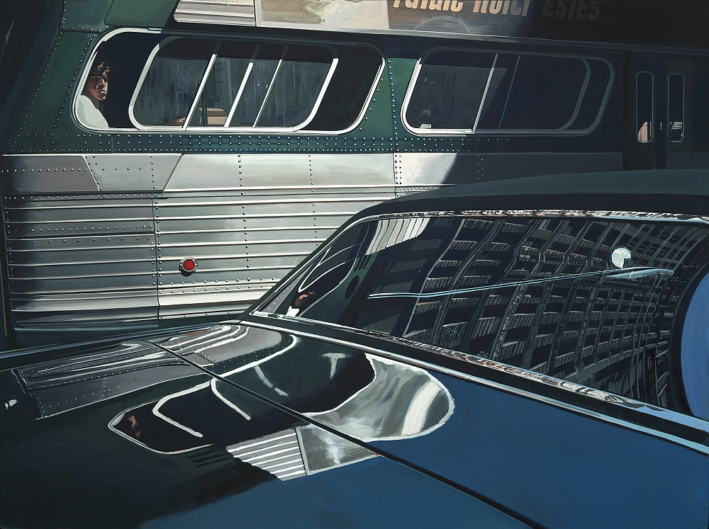 Richard Estes, Bus with Reflection of the Flatiron Building (1966-1967)