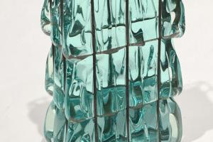 Sydney Cash, LEAKING, 1990, glass - steel wire, 7 x 4 x 2 in. (17.8 x 10.2 x 5.1 cm)