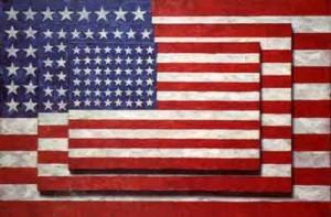 Jasper Jones, Three Flags, 1958, Whitney Museum of American Art