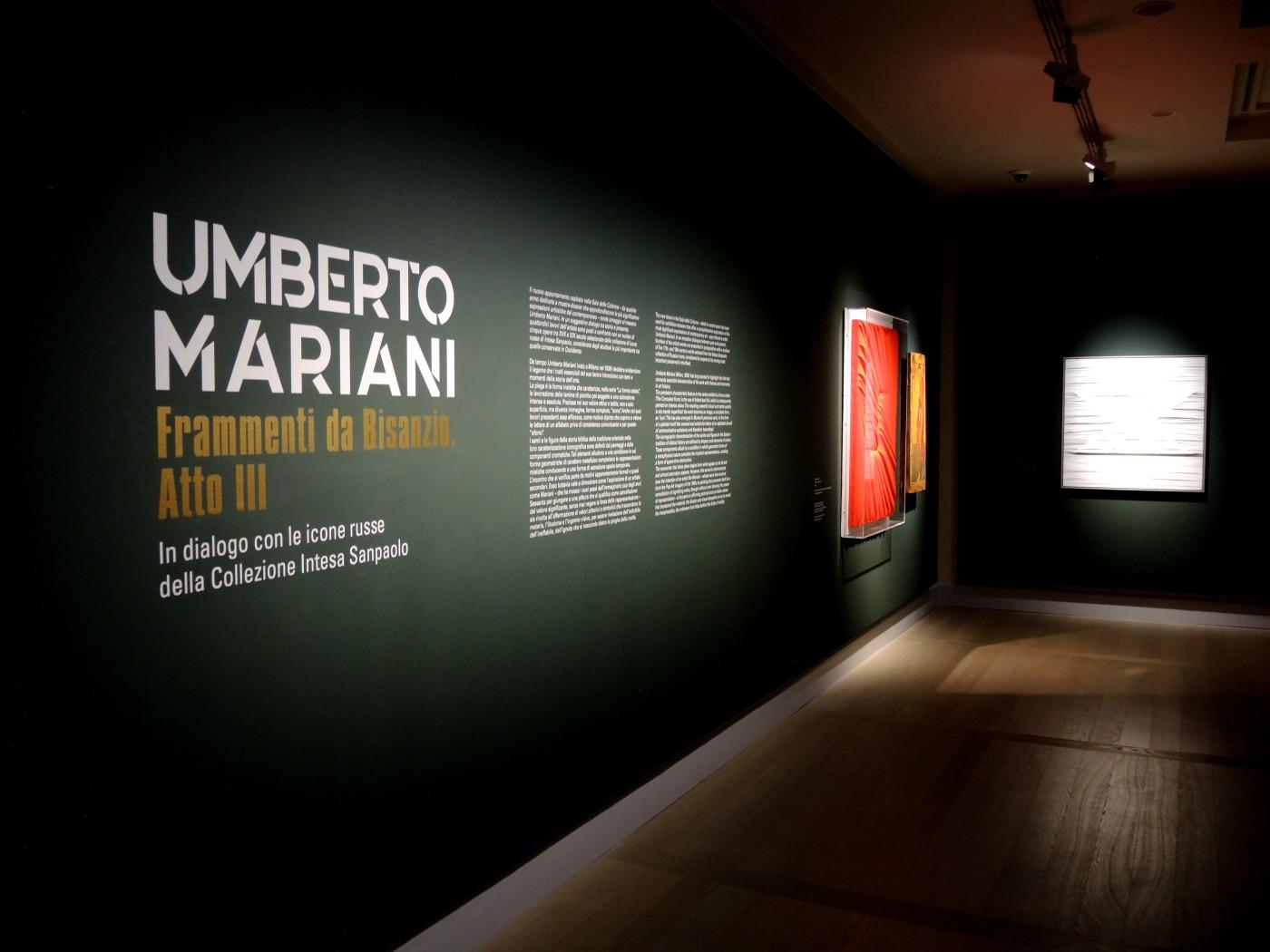 Umberto Mariani. Frammenti da Bisanzio (atto terzo) solo exhibition, Gallerie d'Italia, Milan, Italy, 2020