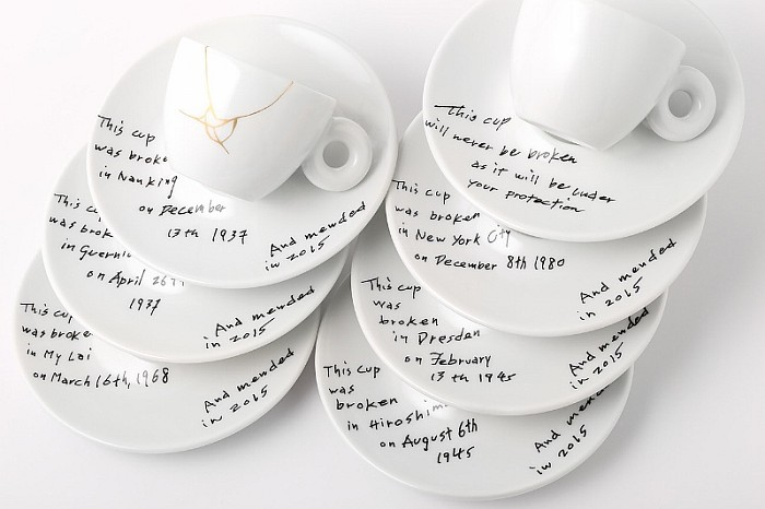 Yoko Ono, Mended Cups - illy Art Collection
